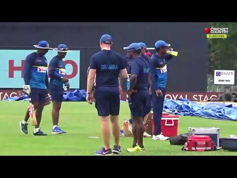 Sri Lanka team train hard at nets ahead of 1st ODI vs India