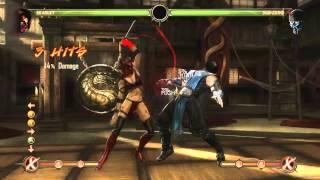 Mortal Kombat 9 - Skarlet обучение + комбо