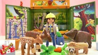 Playmobil Country Karmienie Leśnych Zwierząt Paśnik unboxing