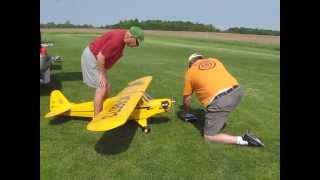 Bill & Gary flying the Hanger 9 J3 Piper Cub 1/4 scale RC Airplane