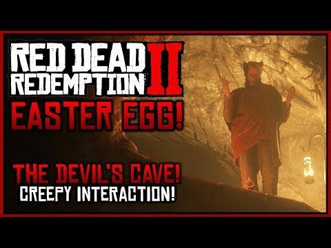 "Red Dead Redemption 2: Easter Eggs - Creepy ""Devil's Cave"" Easter Egg!"