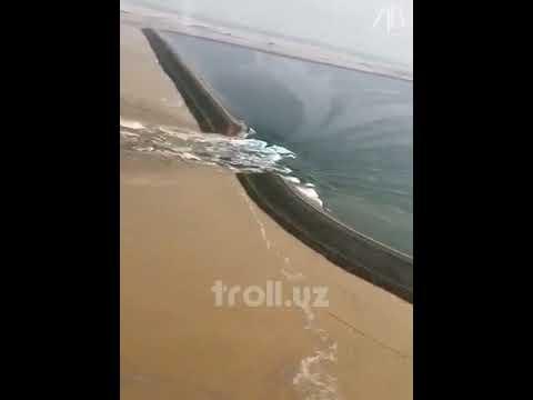 Обнародовано видео прорыва дамбы в Узбекистане