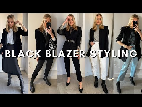 BLACK BLAZER OUTFITS 2020 | Styling Different Black Blazers (Festive Outfit Ideas)