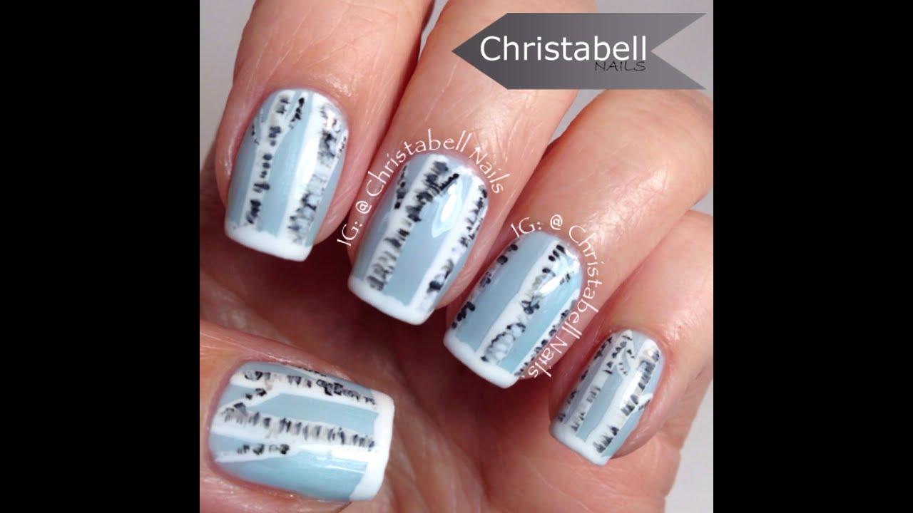 Q Riouser Q Riouser Nail Art: ChristabellNails Birch Tree Nail Art Tutorial