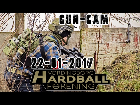 Airsoft | Skirmish Vordingborg Hardball Forening | Gun-cam & Capture the flag | 22 jan. 2017