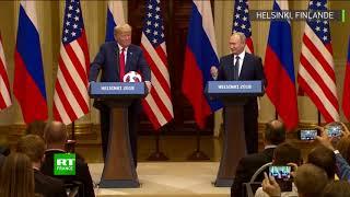 «La balle est dans son camp» : Poutine transmet le flambeau du Mondial de football à Trump