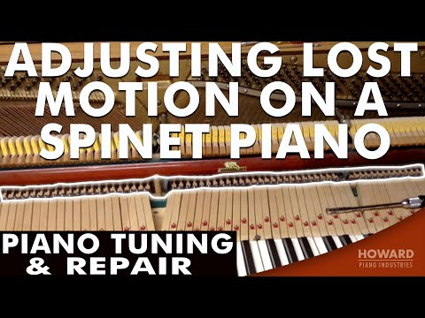 Piano Tuning & Repair - Adjusting Lost Motion on a Spinet Piano