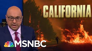President Donald Trump Tweet Wrong, Unhelpful To California Firefighters | Rachel Maddow | MSNBC