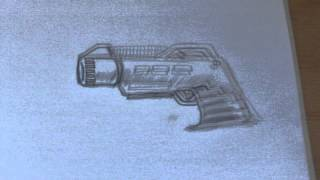 How To Draw A Simple Ray Gun Step By Step