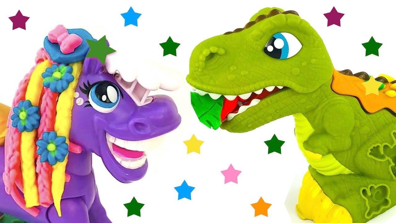 Пластилин для детей, играем с забавными игрушками