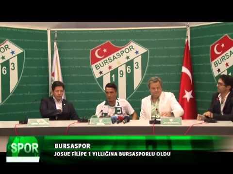 Bursaspor josue filipe ile anla�ti