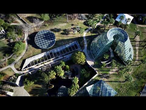 Flying Over The Beautiful San Antonio Botanical Gardens (4K Drone)