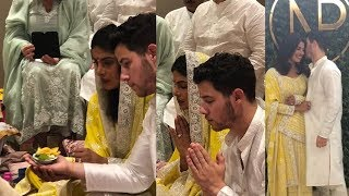First Look of Priyanka Chopra and Nick Jonas on their Engagaemnt and Roka Ceremony 😍