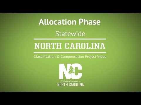 Allocation Phase - NC Classification & Compensation Project #2