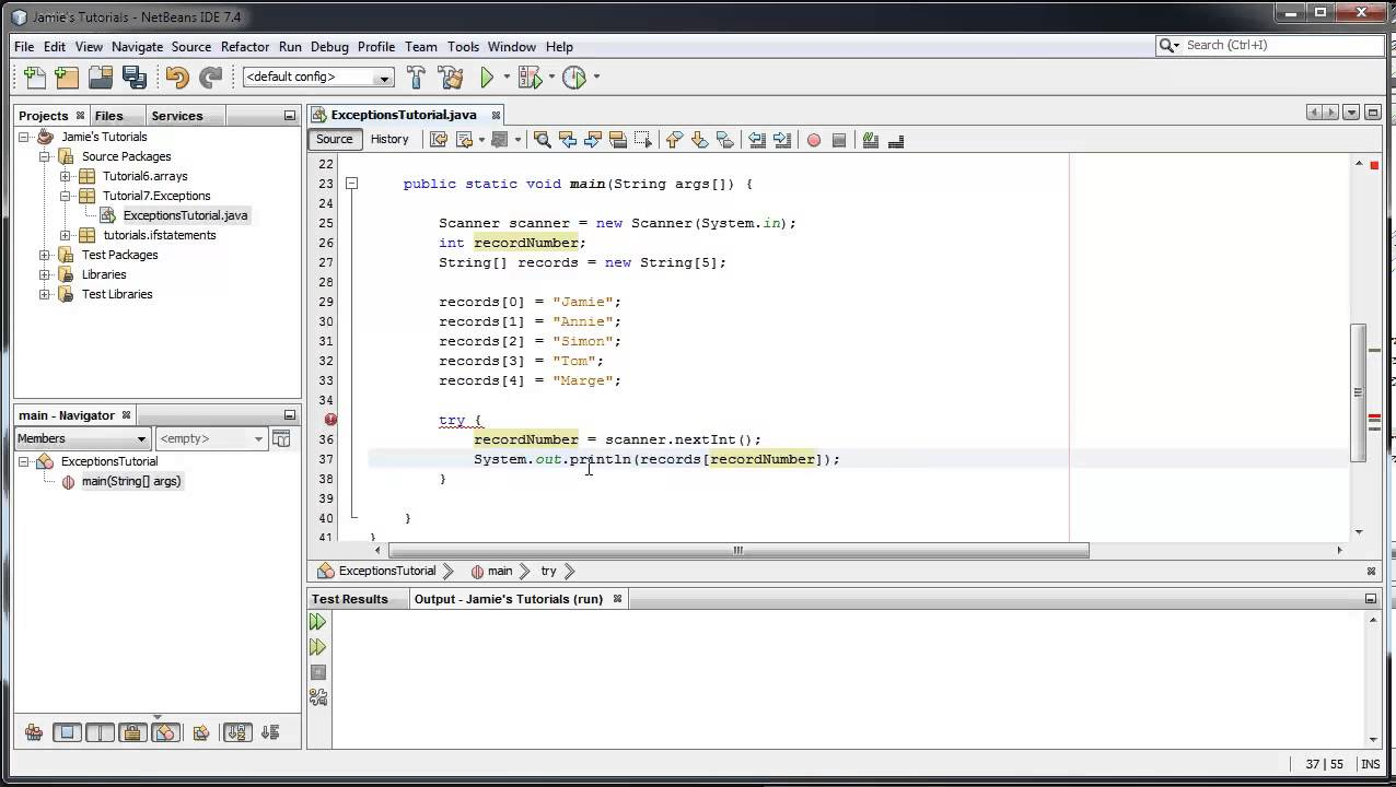 Java tutorial 7 basics of exceptions and the try catch block java tutorial 7 basics of exceptions and the try catch block baditri Choice Image