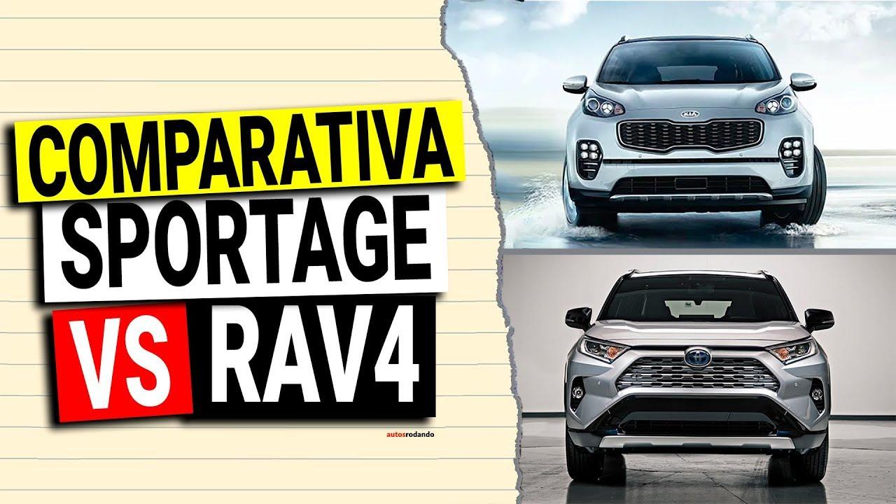Toyota Rav4 Vs Kia Sportage 2020 Comparativa Youtube
