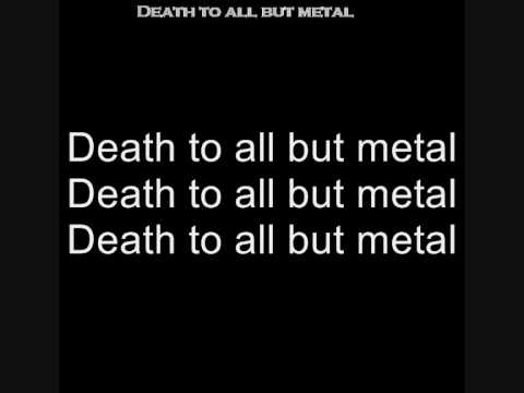 Steel Panther- Death to all but metal [lyrics video]