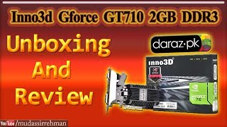 Inno3d Nvidia GeForce GT 710 2GB GDDR3 Unboxing & Review