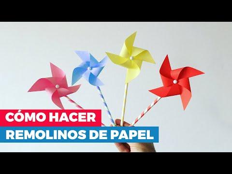 C mo hacer remolinos de papel youtube - Como hacer cadenetas de papel para fiestas ...