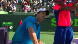 Murray flips at umpire  and making fun of the umpire 2014