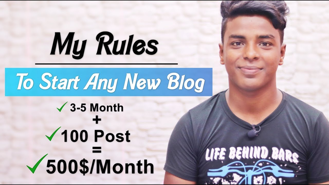 My Rules to Start a New Blog