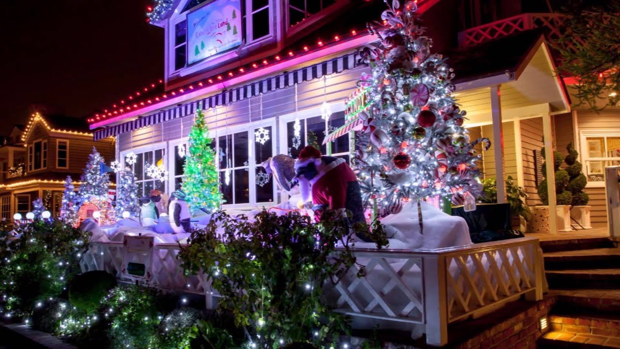 christmas lights on balboa island in newport beach hd youtube