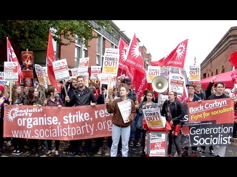 Socialist Party on the anti-Tory Party Demo in Manchester