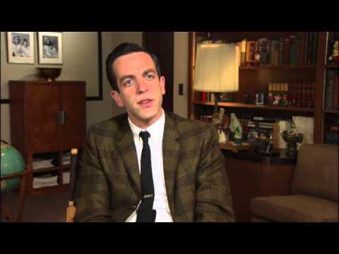 "Saving Mr Banks: B.J. Novak ""Robert Sherman"" On Set Interview"