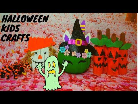 How to make Easy Halloween crafts for kids   DIY kids craft    Handmade crafts