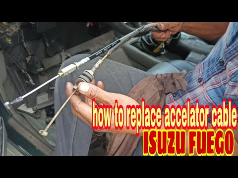 How to replace accelator cable| ISUZU FUEGO