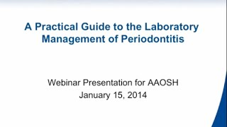 A Practical Guide to the Laboratory Management of Periodontitis