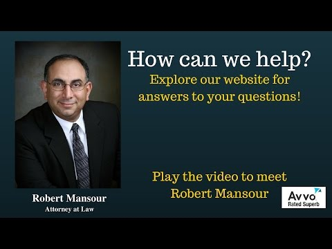 Santa Clarita, CA Personal Injury accident attorney Robert Mansour
