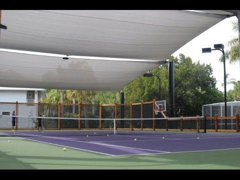 Tennis Court Shade Structure Youtube