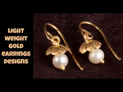 Light Weight Gold Earrings Designs