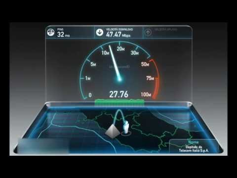 SpeedTest 50 mega + Fibra con telecom (Roma)