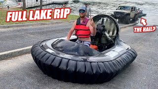 Humiliating Average Boat Ramp Users With a Luxurious HOVERCRAFT!!! (Lake Adventure w/Uncle Finn)