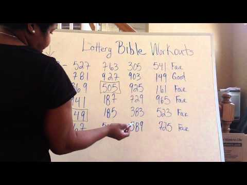 Lottery Bible Sheets