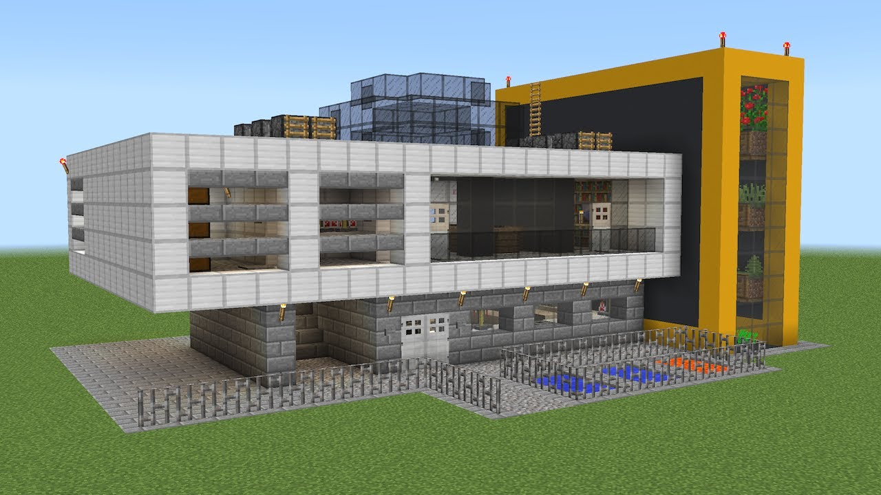 Minecraft Laboratory Design Exterior