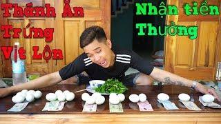 NVL | Thử Thách Ăn Trứng Vịt Lộn Nhận Giải Thưởng Lớn