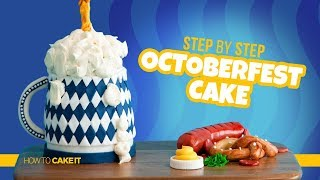 How To Make a GRAVITY DEFYING Oktoberfest Cake by Michelle Tim | How To Cake It Step By Step