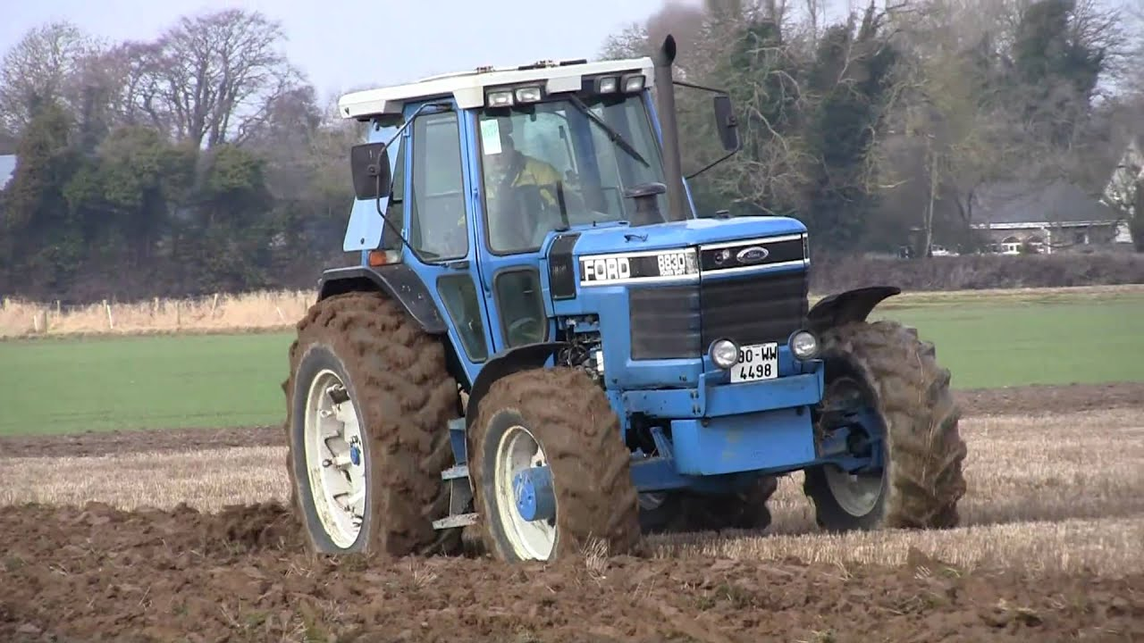 ford 8830 powershift with kverneland 6 furrow ploughing doovi. Black Bedroom Furniture Sets. Home Design Ideas
