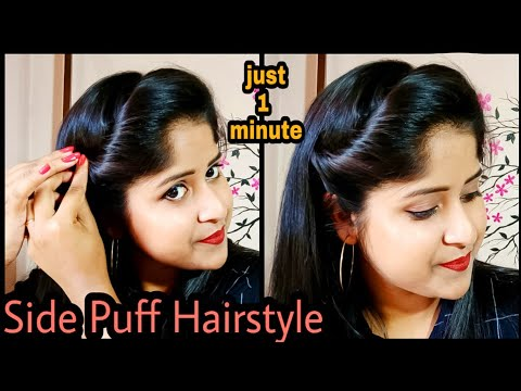 1-minute-easy-side-puff-hairstyle-for-thin-hair-|-simple-hairstyle-|-it's-me-jayeeta