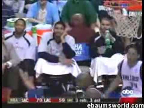 Tim Duncan getting ejected for laughing