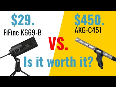 Fifine K669 USB Gaming Mic Vs. AKG-C451-Honest Review & Comparison. Best Budget Microphone For $29?