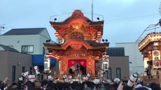御前崎駒形神社祭典の合同披露、上岬区子供の部.