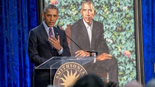 President Barack Obama & Michelle Speech at National Portrait Gallery