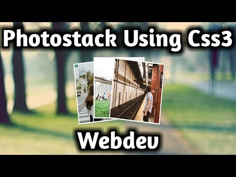 How to create photostack using Html5 and Css3 - card stack animation - image hover effects