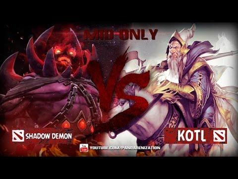 видео: shadow demon vs kotl [Битва героев мидонли dota2]