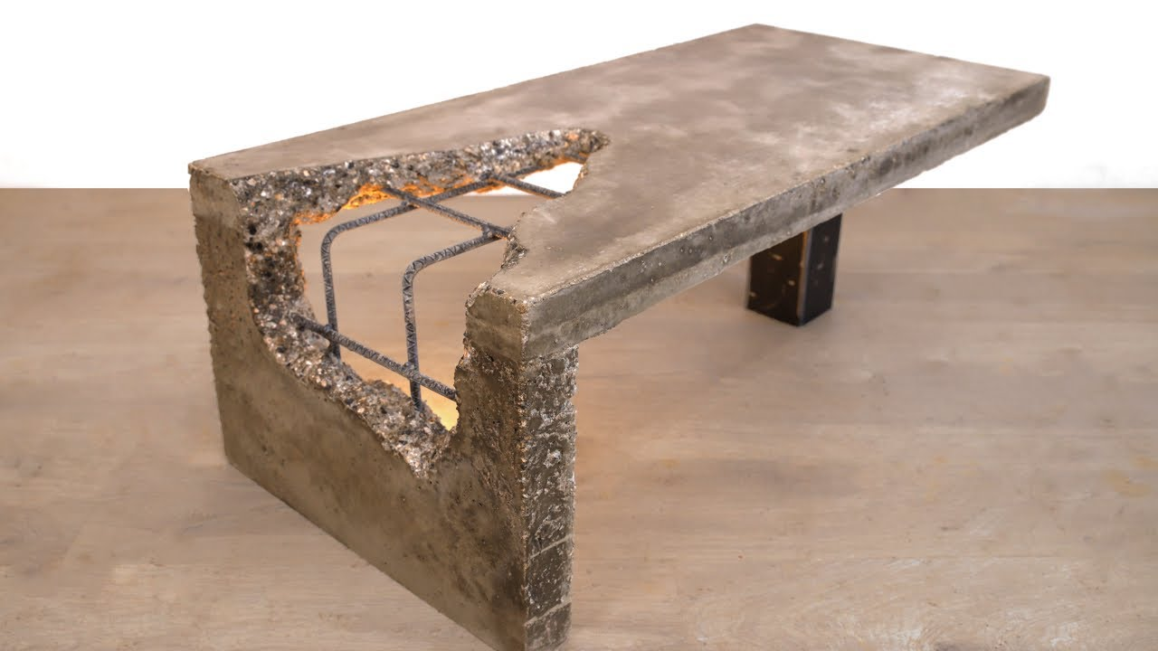 diy concrete coffee table urban
