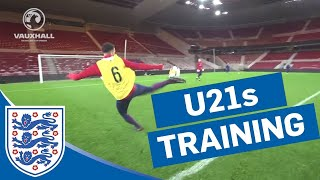 Finishing & Aidy Boothroyd 2-touch challenge at the Riverside | U21s | Inside Training